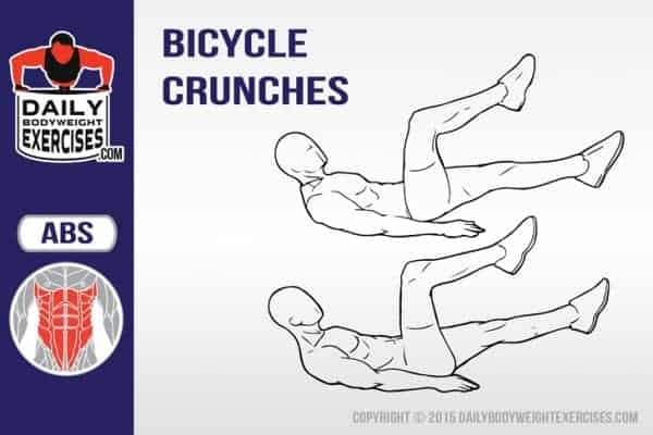 how to perform bicycle crunches