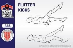 how to do flutter kicks
