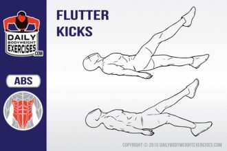 how to do flutter kicks