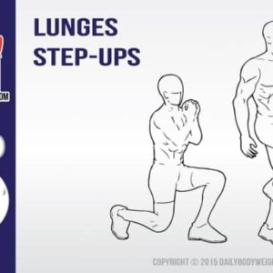 Lunge Step Ups For Stronger Quads