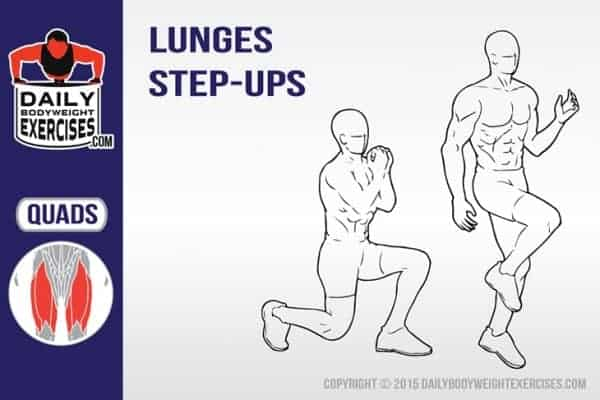how to perform lunge step ups