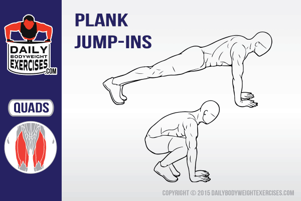 plank jump-ins, best bodyweight exercises, best bodyweight workout, body weight exercises, body weight workout, Best Women workout plans ideas
