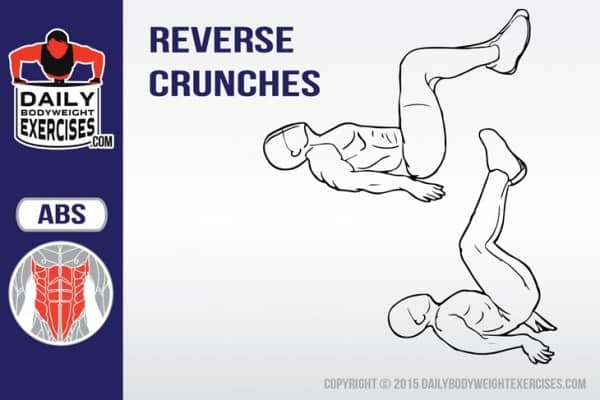 Best Bodyweight Exercises: Reverse Crunches