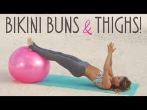 tone it up, bikini buns, bikini thighs, bodyweight exercises, bodyweight exercise ball routine, bikini body weight exercise, best bodyweight exercises, best bodyweight workout