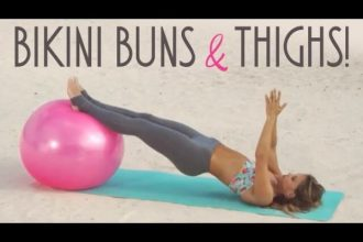 tone it up, bikini buns, bikini thighs, bodyweight exercises, bodyweight exercise ball routine, bikini body weight exercise, best bodyweight exercises, best bodyweight workout
