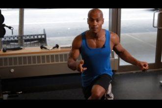 bodyweight back exercise, bodyweight exercises, bodyweight workout, body weight exercises crossover reverse lunge