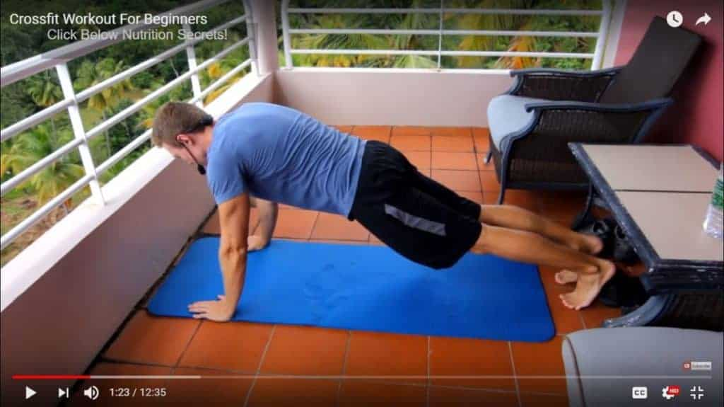 crossfit bodyweight workout for beginners: pushups