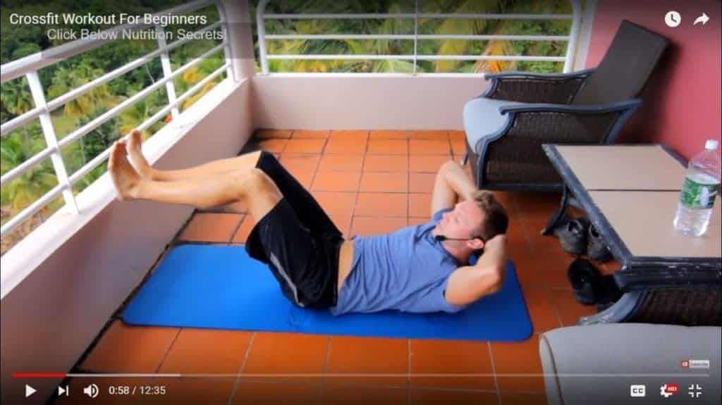 crossfit bodyweight workout - crunches