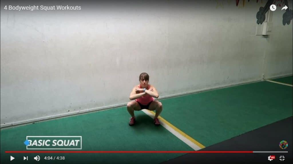 bodyweight squat workout: basic squat