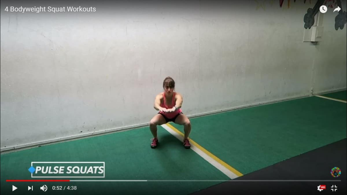 bodyweight squat: pulse squat