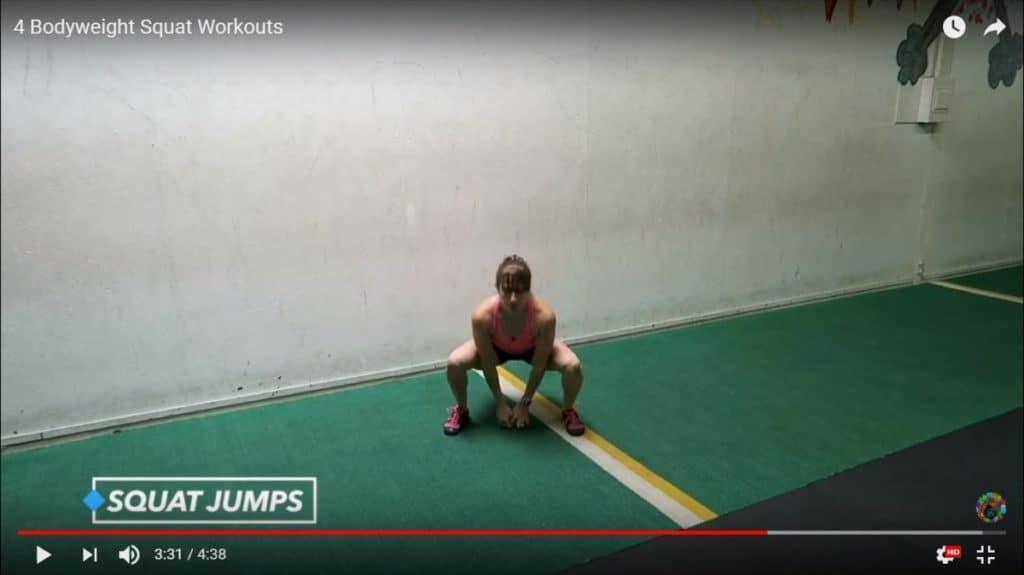 bodyweight squat workout: bodyweight squat workout: squat jumps