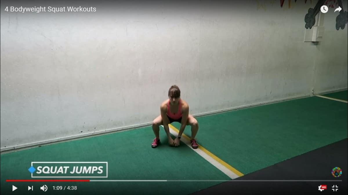 bodyweight squat jumps