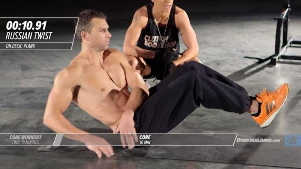 russian twist for core workouts