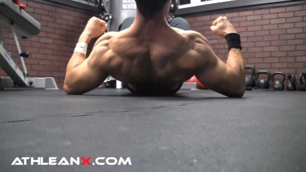 bodyweight back exercise: the upper back lift