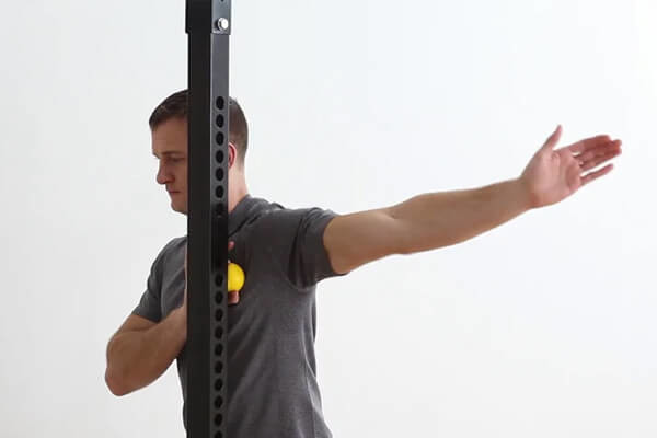 Pec Mobilization With Lacrosse Ball