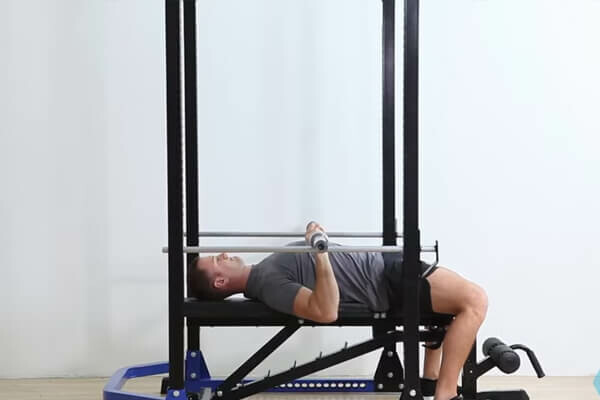 Barbell Bench Press From Pins